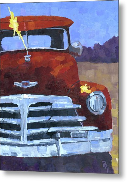 Red 1948 Chevy  Metal Print