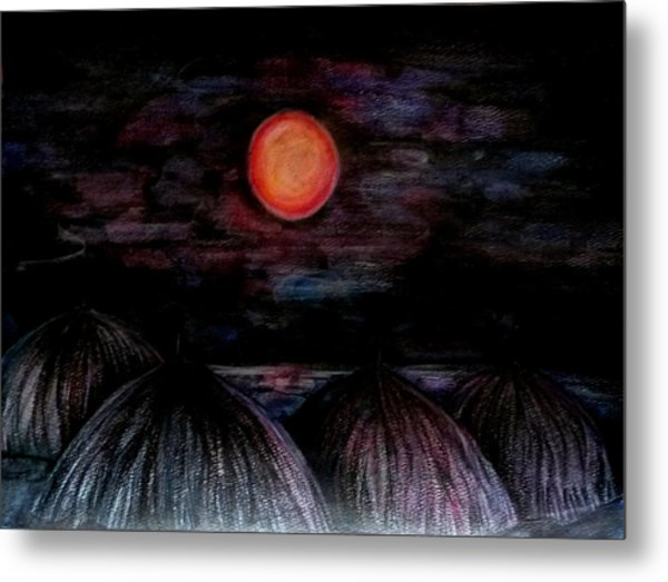 Red And Tropical  Metal Print by Anna  Duyunova