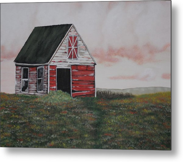 Red Barn Metal Print by Candace Shockley