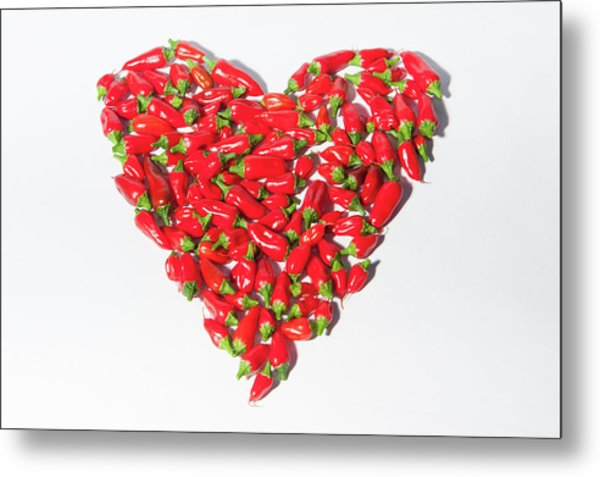 Red Chillie Heart II Metal Print