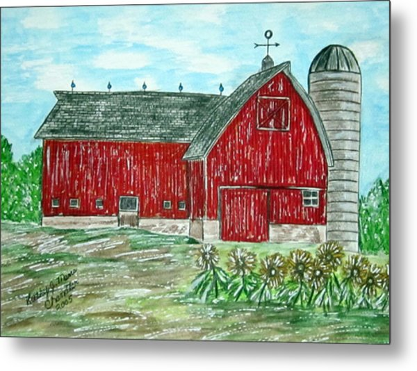 Red Country Barn  Metal Print