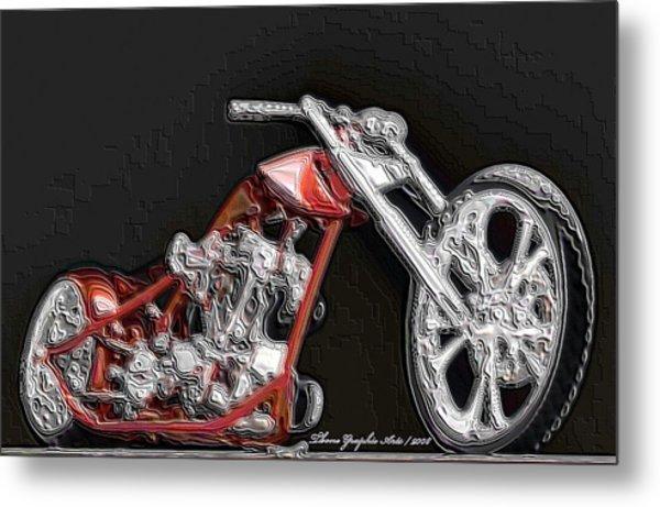 Red Embossed Custom Metal Print by Wayne Bonney