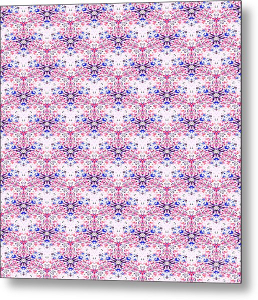 Red Fabric Pattern Metal Print