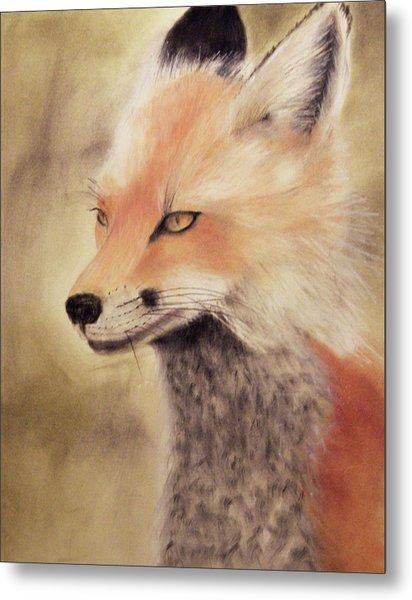 Red Fox Metal Print by Joanne Giesbrecht