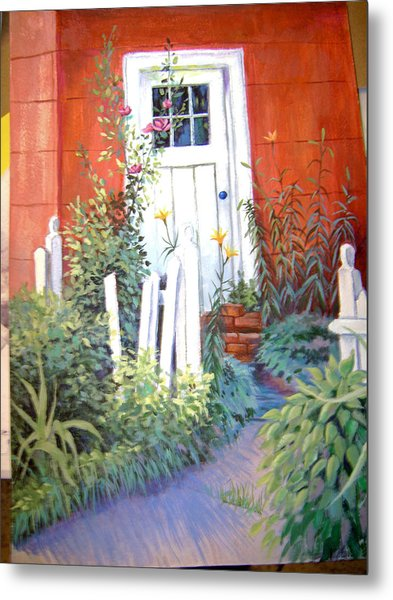 Red House Metal Print by Judy Keefer