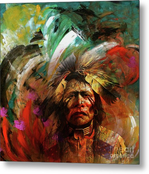 Red Indians 02 Metal Print