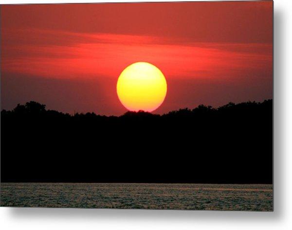 Red Myakka Sunset Metal Print