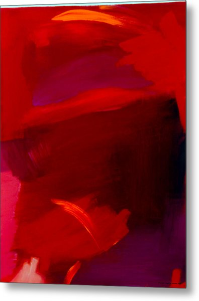 Red On Red Metal Print by Angelina Marino