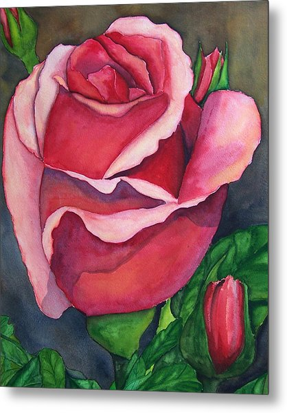 Red Red Rose Metal Print by Robert Thomaston
