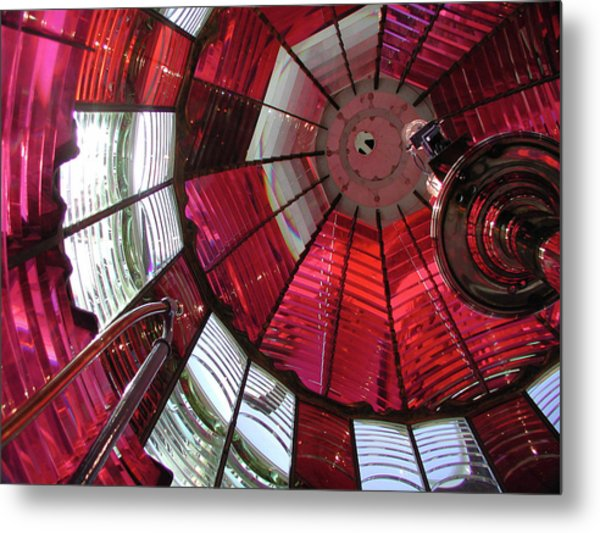 Red Reflections Metal Print