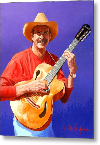 Red River Troubador Metal Print