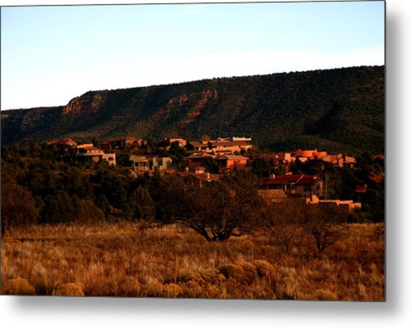 Red Rock Village Metal Print by Jennilyn Benedicto