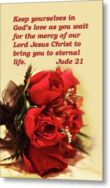 Red Roses Jude 21 Metal Print