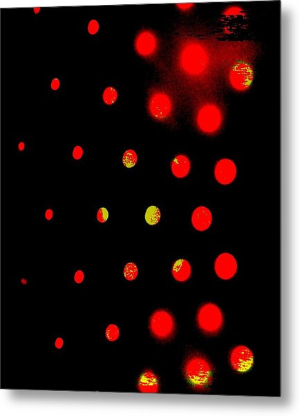 Red Spots Metal Print by Mildred Ann Utroska        Mauk