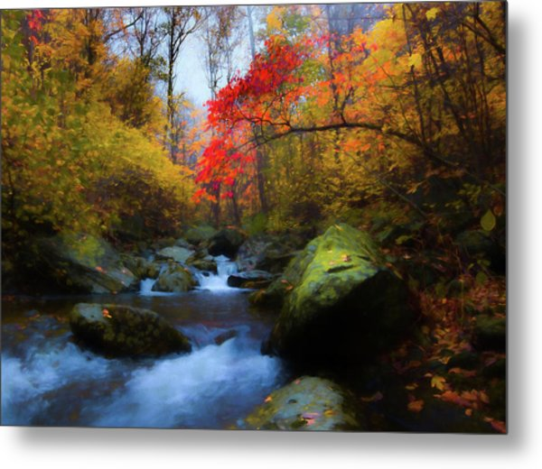 Red Tree In White Oak Canyon Metal Print