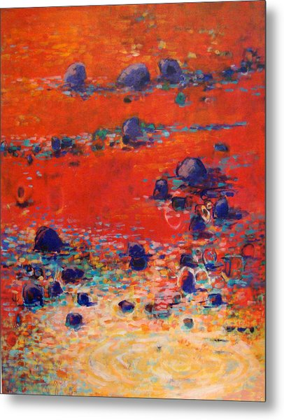 Red Waters Metal Print by Dale  Witherow