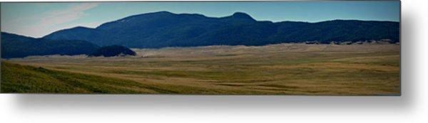 Redondo Peak Over The Caldera Panoramic Metal Print