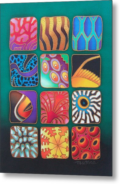 Reef Designs Viii Metal Print