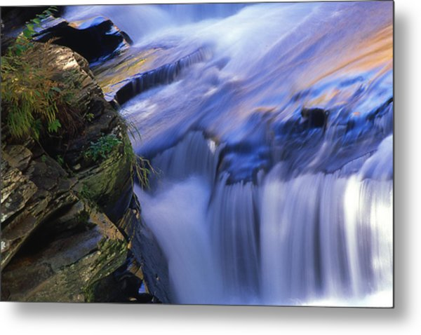 Reflected Light On Fall Metal Print by Barry Shaffer