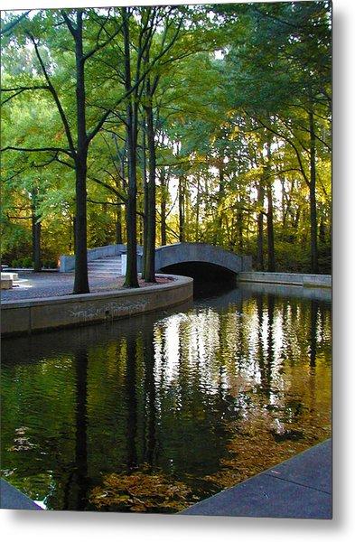 Reflecting Pool Roosevelt Park Metal Print
