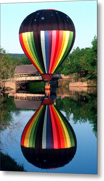 Reflections Of A Balloonist Metal Print by Jim DeLillo