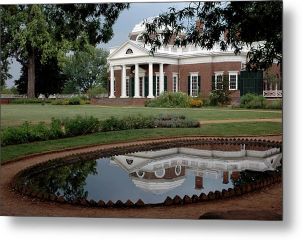 Reflections Of Monticello Metal Print