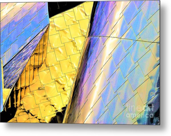 Reflections On Peter B. Lewis Building, Cleveland2 Metal Print