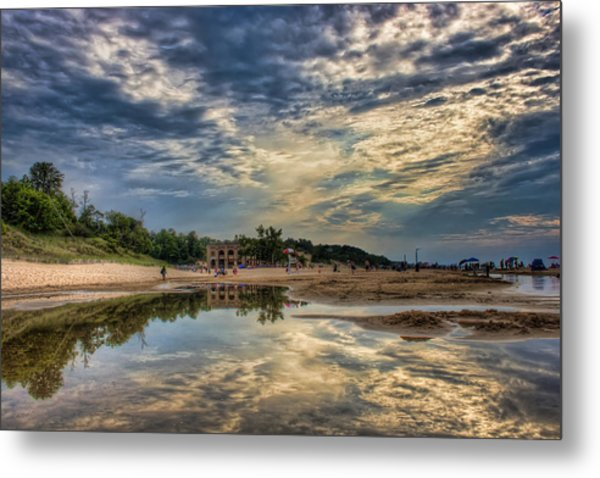Reflections On The Beach Metal Print
