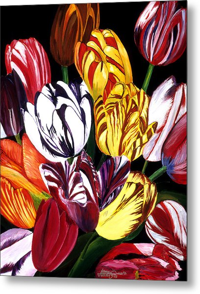 Rembrandt Tulips Metal Print