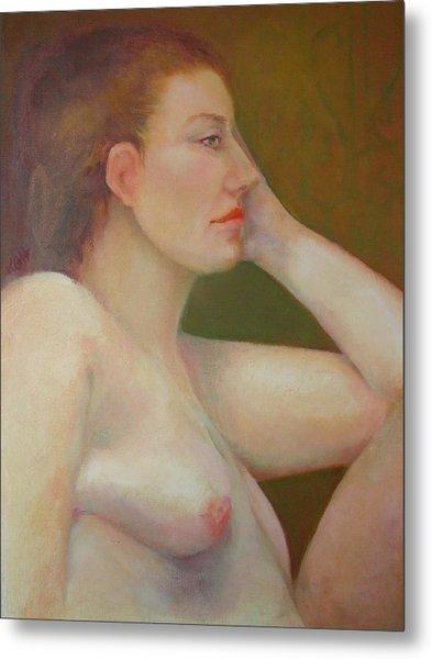 Renaissance Nude  Copyrighted Metal Print by Kathleen Hoekstra