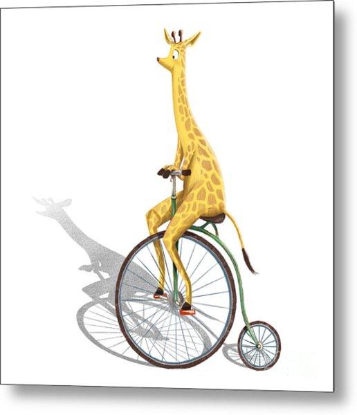 Ride My Bike Metal Print