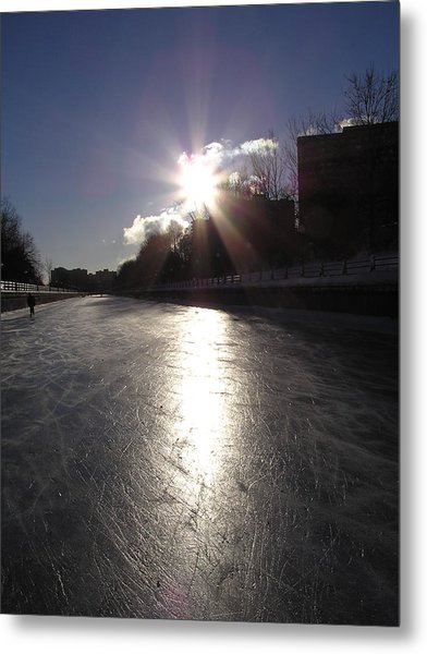 Rideau Canal At Sunrise Metal Print by Richard Mitchell