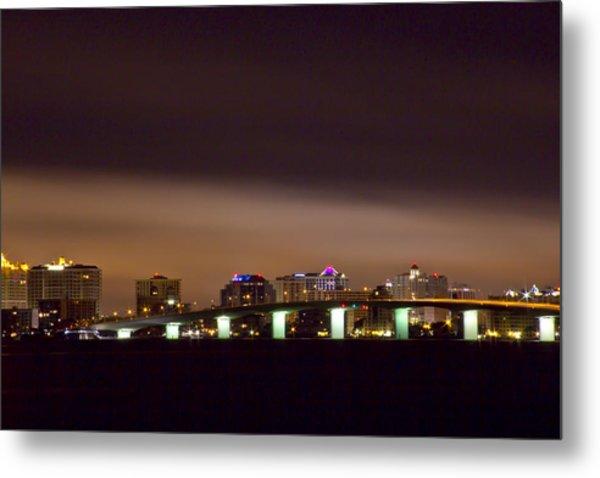 Ringling Bridge And Sarasota Metal Print