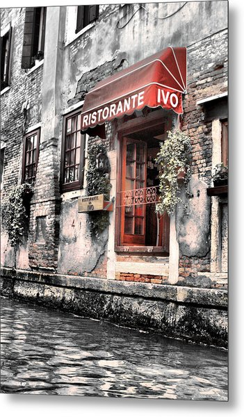 Ristorante On The Canals Metal Print
