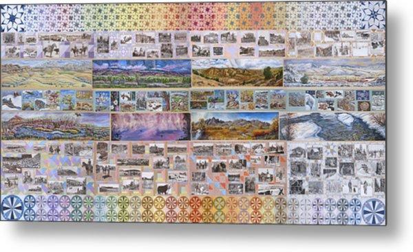 River Mural Complete Metal Print