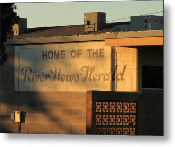 River News-herald Metal Print by Troy Montemayor
