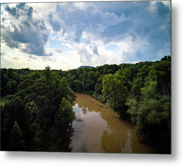 River View From Above Metal Print