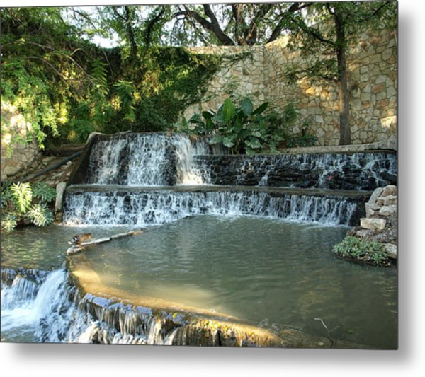 Riverwalk Waterfall Metal Print by Dennis Stein