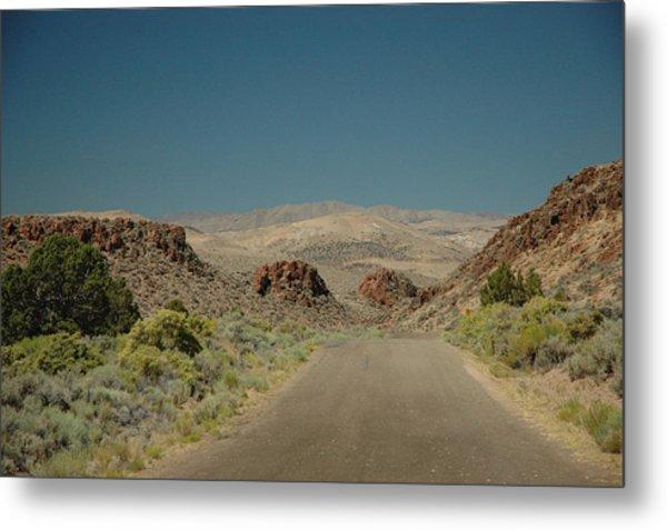Roadway To Peace Metal Print by Lori Mellen-Pagliaro