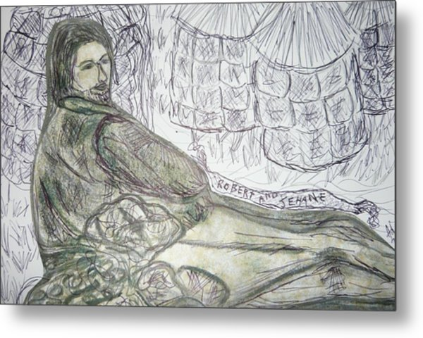 Robert From Poem Haystacks In The Flood Metal Print by Adrianne Wood
