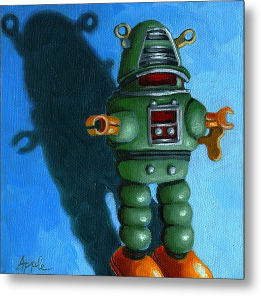 Robot Dream - Realism Still Life Painting Metal Print