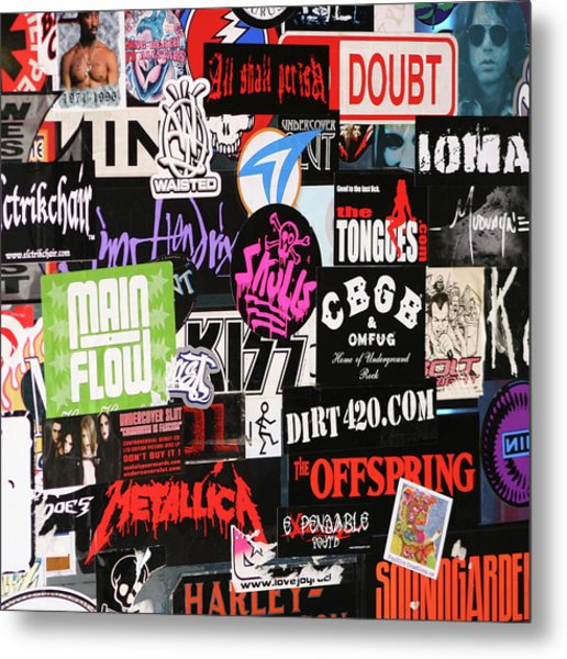Rock And Roll Stickers Metal Print