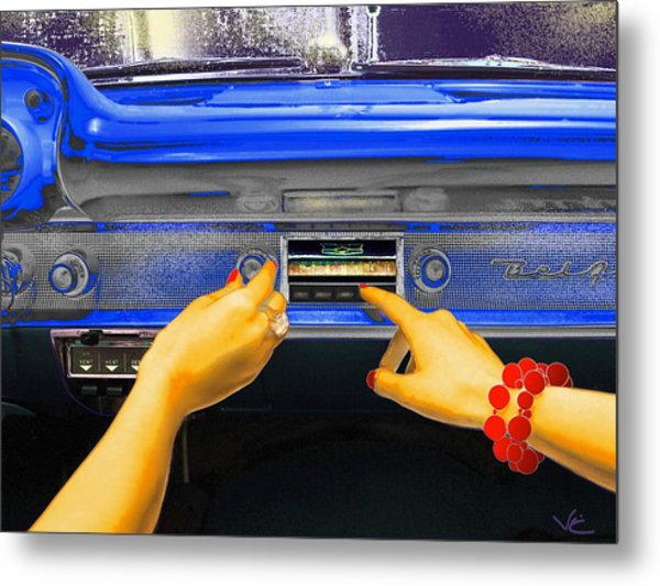 Rock N Roll Radio Metal Print