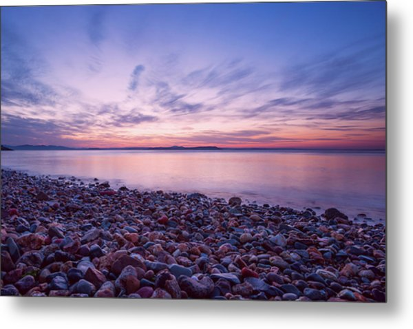 Rocky Beach On The Coast Of The Sea Of Japan, Sunset, Long Expos Metal Print
