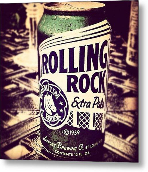 Rolling Rock. #american #beer Metal Print