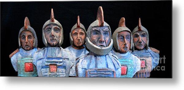 Roman Warriors - Bust Sculpture - Roemer - Romeinen - Antichi Romani - Romains - Romarere Metal Print