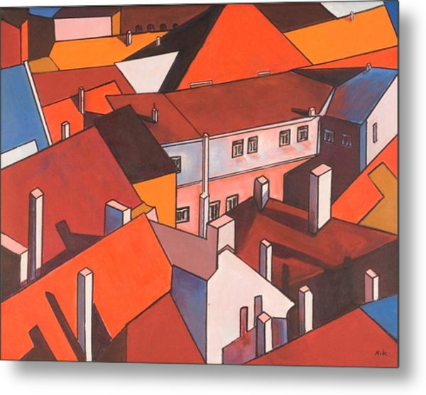 Roofs Of Prague Metal Print