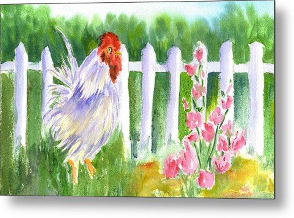 Rooster 05 Metal Print by Ruth Bevan