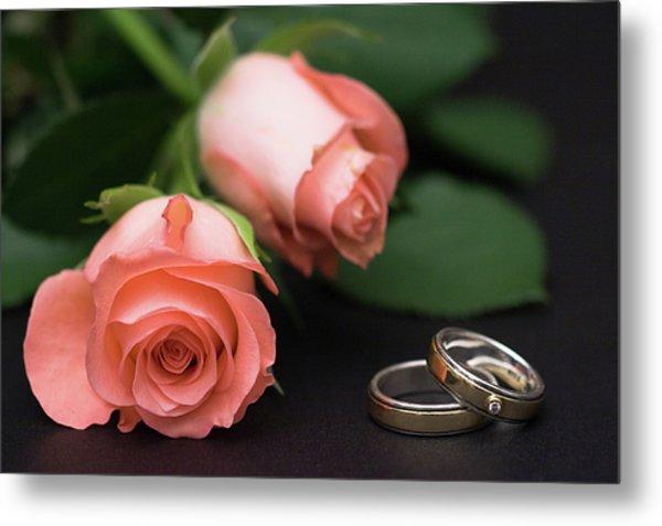 Roses And Rings Metal Print