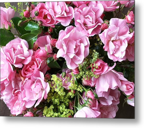 Roses From The Garden Metal Print